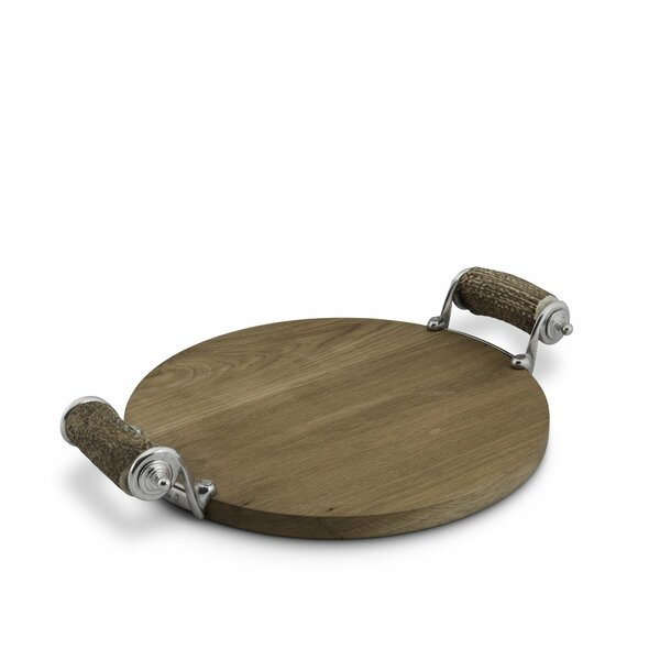 Lodge Real Antler Handle Cheese Serving Tray by Vagabond House