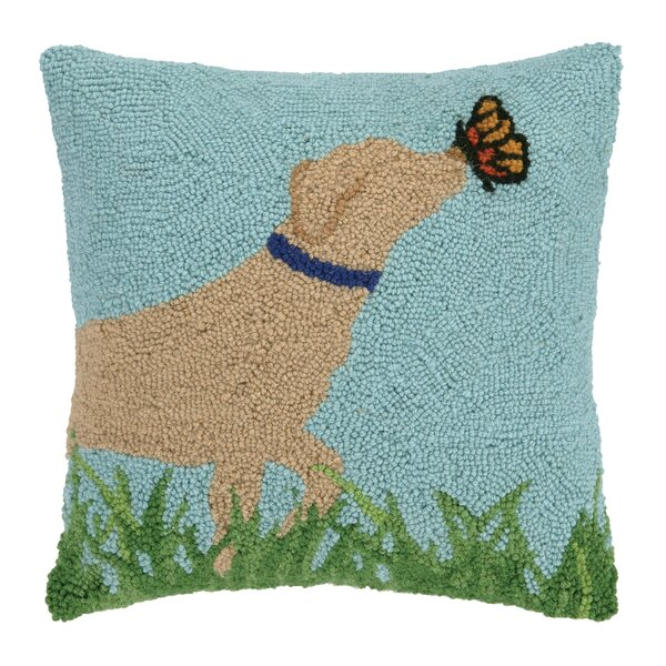 Lab and Butterfly Pillow by Peking Handicraft