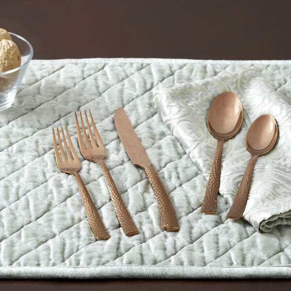 Burrell Hammered Flatware Set by Birch Lane™
