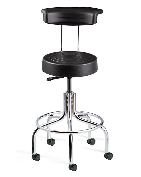 Bon BEVCO ErgoLux Height Adjustable Stool With Backrest | Wayfair