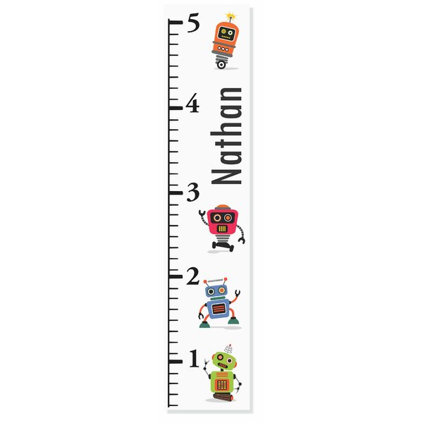 Robot Growth Chart by Decor Designs  Decals