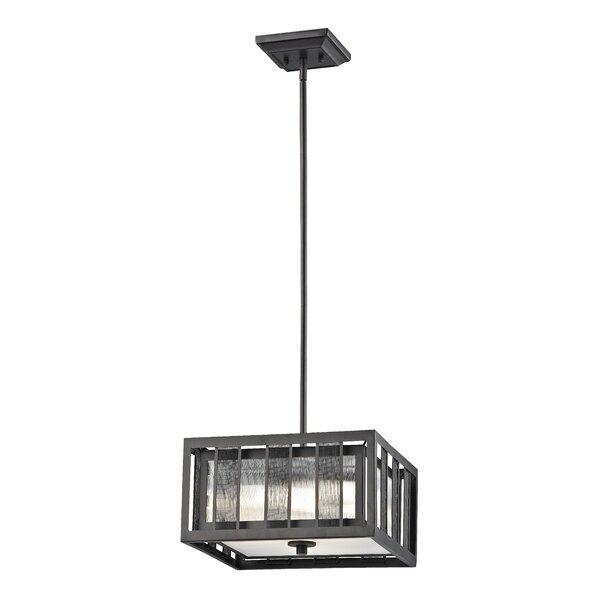 Valerii 3 - Light Shaded Rectangle / Square Chandelier By 17 Stories