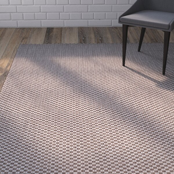Jefferson Place Light Brown/Light Gray Outdoor Area Rug by Wrought Studio