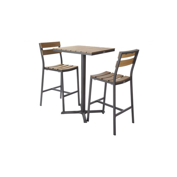 Asher 3 Piece Bar Height Dining Set
