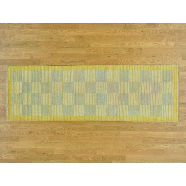 One-of-a-Kind Becker Raised Hand-Knotted Wool Area Rug by Isabelline