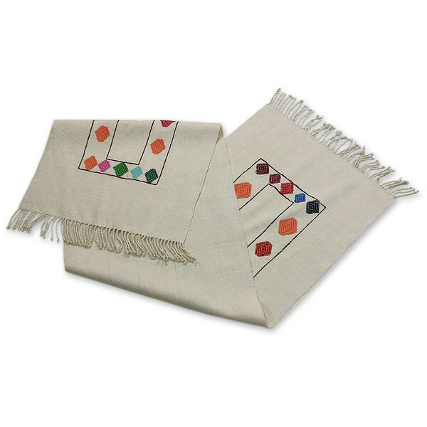 Bowe Kites Cotton Table Runner by Bloomsbury Market