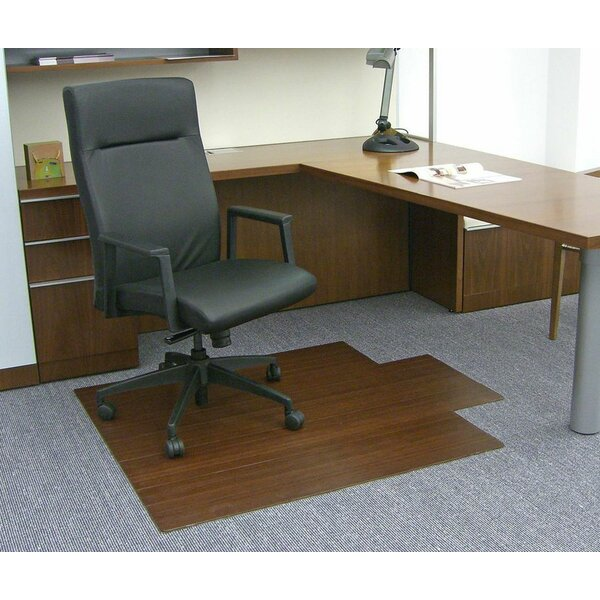 Low Pile and Hardwood Bamboo Office Chair Mat by Wildon Home ®