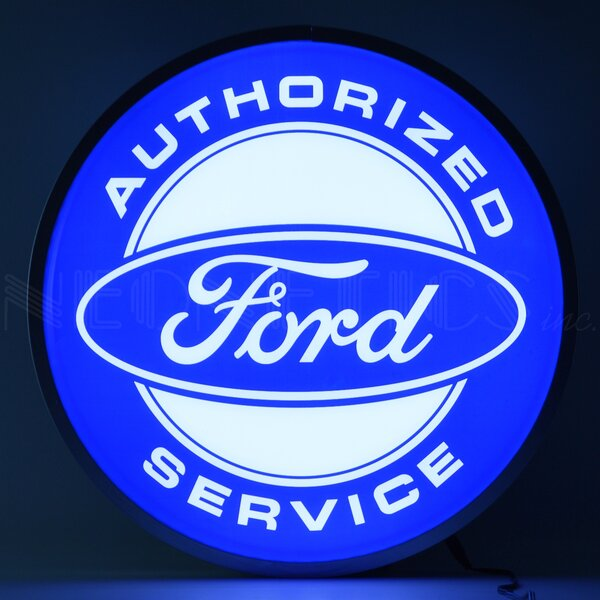 Ford Authorized Service Backlit LED Lighted Sign Themed by Neonetics