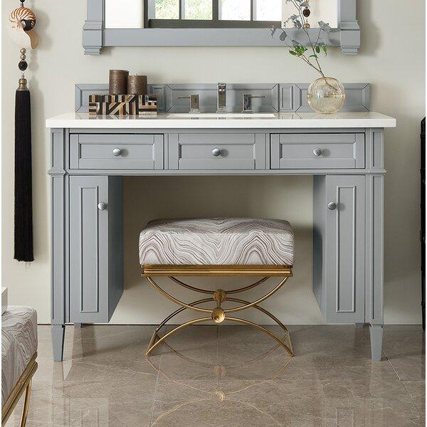 Dussault 48 Single Urban Gray Bathroom Vanity Set by Darby Home Co