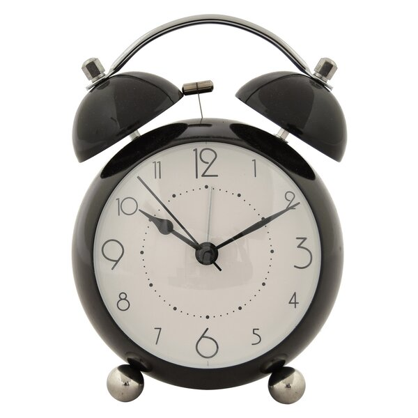 Metal Alarm Tabletop Clock by Brayden Studio