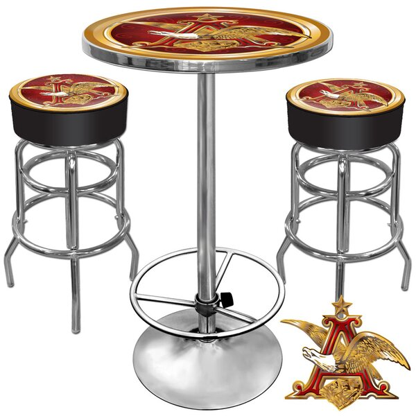 Ultimate A and Eagle Game Room 3 Piece Pub Table Set by Trademark Global