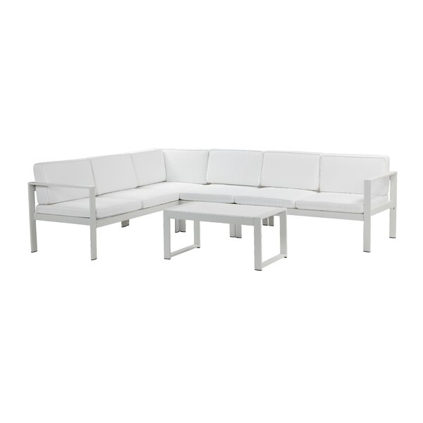 Karen 5 Piece Sectional Seating Group with Cushions (Set of 5) by Rosecliff Heights