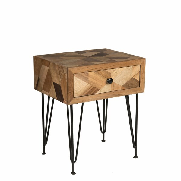 Maser End Table with Storage by Union Rustic