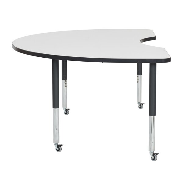 Kidney Dry-Erase Adjustable 72 x 48 Horseshoe Activity Table by ECR4kids