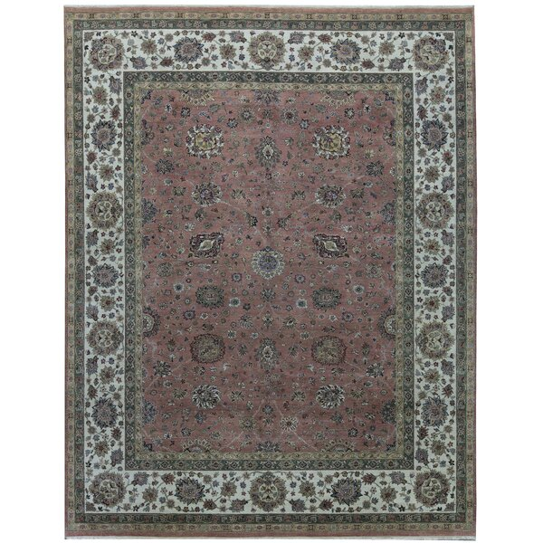 One-of-a-Kind Essex Hand-Knotted Red 12'1 x 15'2 Area Rug