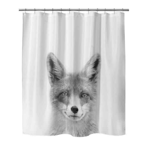 Fox Shower Curtain by East Urban Home