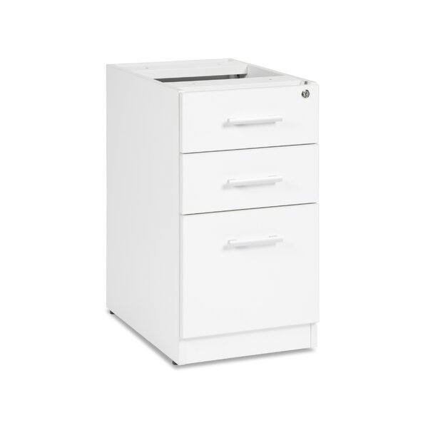 Gerth Locking Pedestal 3-Drawer Vertical Filing Cabinet by Ebern Designs