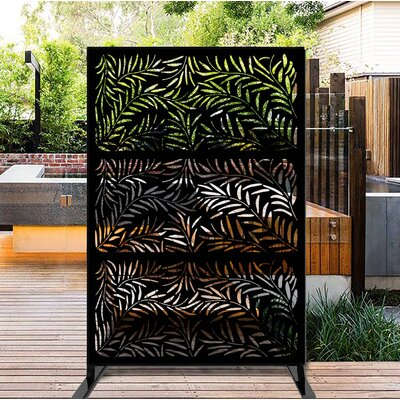 Porpora6 5 Ft H X 4 Ft W Laser Cut Metal Privacy Screen Porpora Finish Black Dailymail