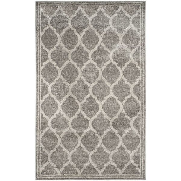 Maritza Gray/Light Gray Indoor/Outdoor Area Rug by Willa Arlo Interiors