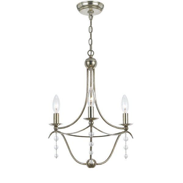 Farrington Gurney 3-Light Candle Style Empire Chandelier by Astoria Grand Astoria Grand