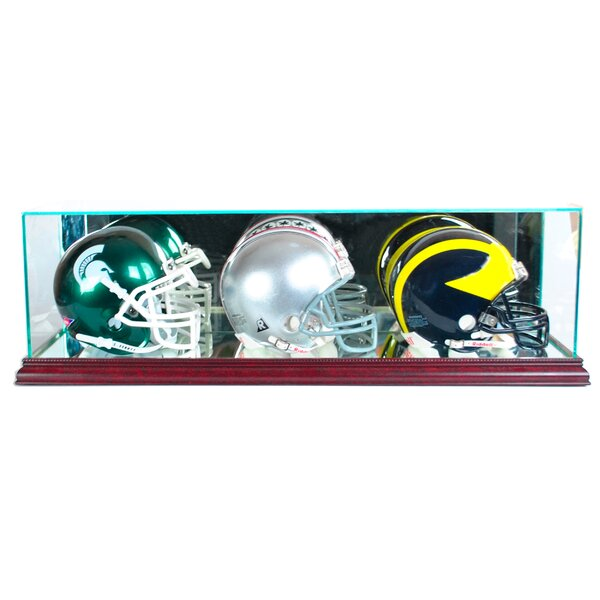 Triple Mini Football Helmet Display Case by Perfect Cases