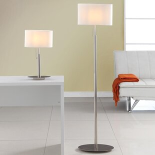 Modern contemporary table and floor lamp sets allmodern audrey european 2 piece table and floor lamp set mozeypictures Choice Image