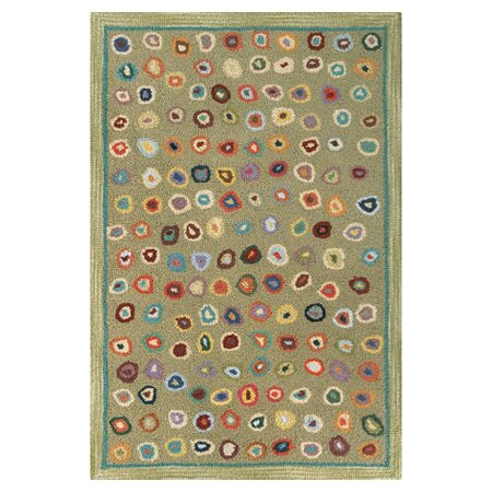 Hooked Green Area Rug by Dash and Albert Rugs