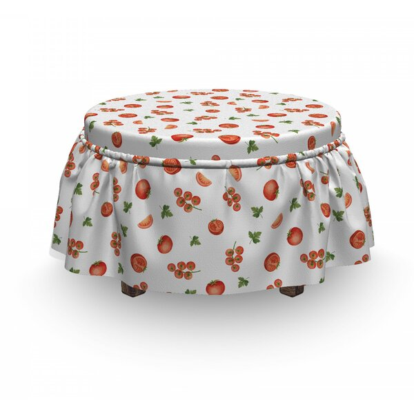 Cherry Tomato Parsley Ottoman Slipcover (Set Of 2) By East Urban Home
