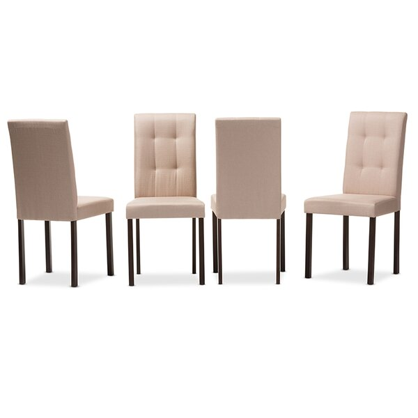Guzzi Grid-Tufting Upholstered Dining Chair (Set of 4) by Charlton Home Charlton Home