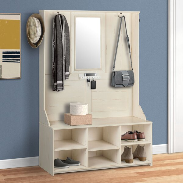 Gracie Oaks Oliwia Hall Tree With Bench And Shoe Storage