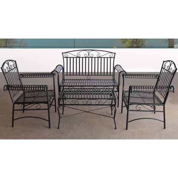Venita 4 Piece Complete Patio Set by Fleur De Lis Living