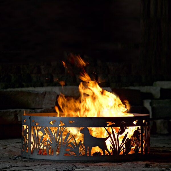 Lab N Duck Steel Wood Burning Fire ring by P & D Metal Works