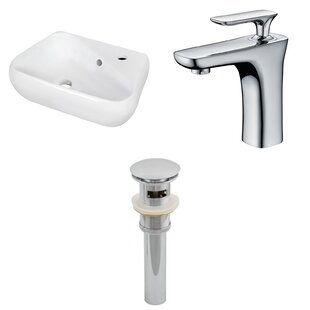 Ceramic 17.5 Bathroom Sink with Faucet and Overflow ByRoyal Purple Bath Kitchen