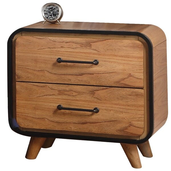 Loughborough Wooden 2 Drawer Nightstand by Corrigan Studio