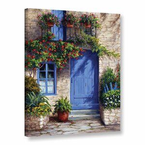 Provence Blue Door Painting Print on Wrapped Canvas by Charlton Home