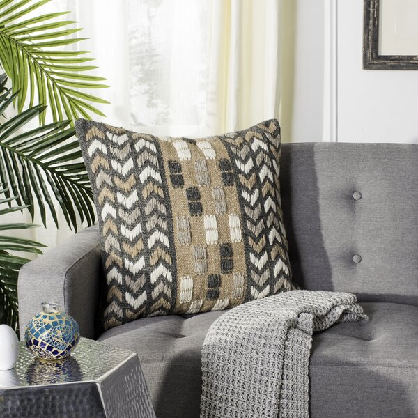 Bangor Wool Throw Pillow by Foundry Select