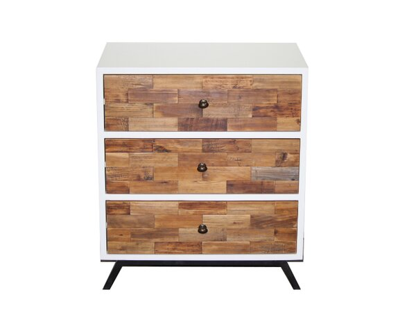 Dominick Laster Modern 3 Drawer Night Stand by Langley Street