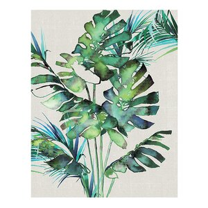 'Monstera Leaves' by Summer Thornton Painting Print