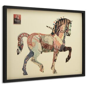 'Carousel Horse' by Alex Zeng Framed Graphic Art Print by Latitude Run