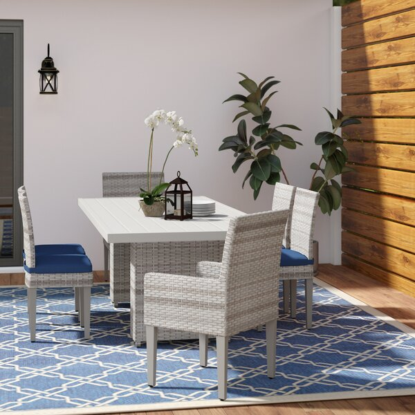 Waterbury Outdoor Patio 7 Piece Dining Set with Cushions by Sol 72 Outdoor
