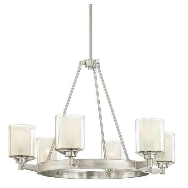 Johns 6 - Light Unique / Statement Wagon Wheel Chandelier by Darby Home Co Darby Home Co