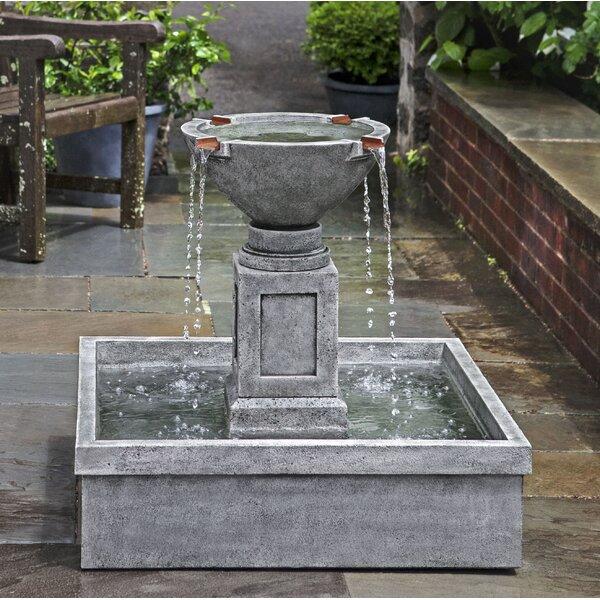Rittenhouse Concrete Garden Terrace Fountain by Campania International