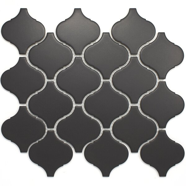 Lantern 3 x 3 Porcelain Tile in Black by Multile