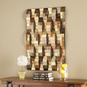 Modern Metal Wall Decor metal wall art - wall décor | wayfair