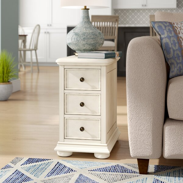 Dania Beach End Table with Storage  by Beachcrest Home