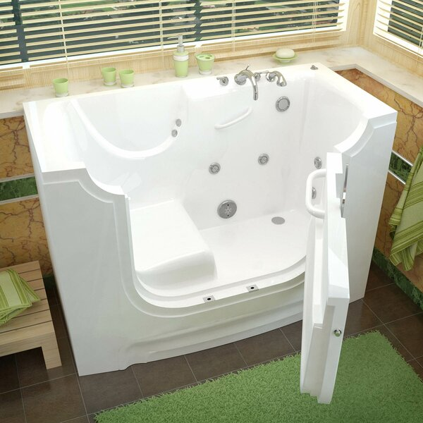 HandiTub 60 x 30 Walk-In Whirlpool Bathtub by Therapeutic Tubs