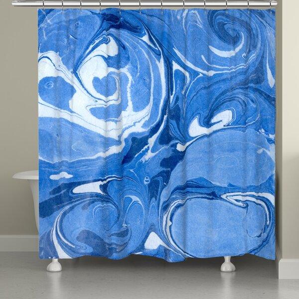 Castello Marble Shower Curtain by Ebern Designs