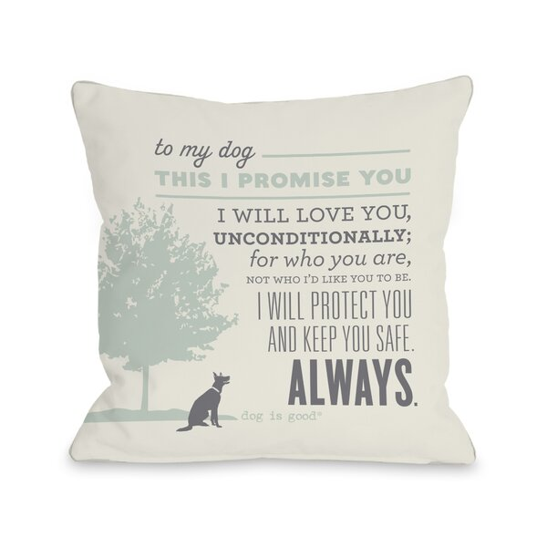 Promise Throw Pillow by One Bella Casa