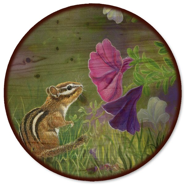 Chipmunk In The Garden Lazy Susan by WGI-GALLERY