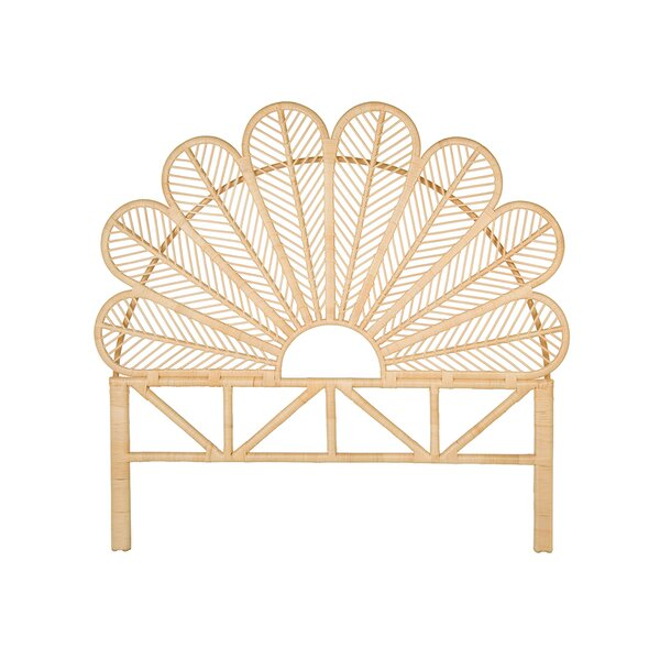 Hirst Rattan Petal Open Frame Headboard By Bungalow Rose by Bungalow Rose Amazing